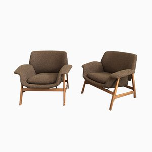 Modell 849 Sessel von Gianfranco Frattini für Cassina, 1950er, 2er Set