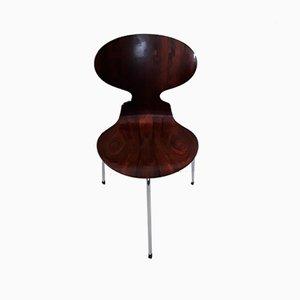 Sedie Ant vintage tripodi di Arne Jacobsen per Fritz Hansen, set di 4