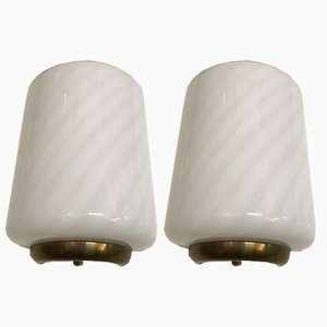 Vintage Murano Glass Sconces by Paolo Venini for Veluce, Set of 2