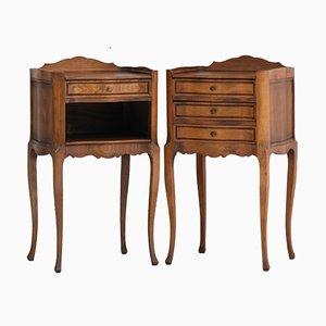 Mid-Century French Louis XV Revival Nightstands, Set of 2