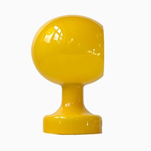 Lámpara de mesa o pared modelo Astronaut de vidrio amarillo de Michael bang para Holmegaard, 1967
