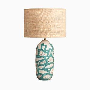Ceramic Table Lamp by Dante Baldelli, 1950s