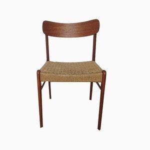 Chaise de Salle à Manger Vintage en Teck de Glyngore Stolefabrik, Danemark