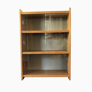 Vintage Bücherregal mit Glasfront