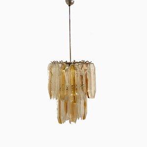 Lámpara de araña Mid-Century de cristal de Murano de Mazzega