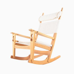 Modell GE-673 Keyhole Sessel von Hans J. Wegner für Getama, 1950er