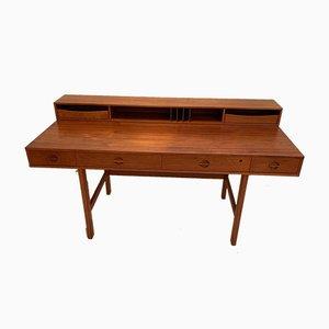 Flip-Top Schreibtisch aus Teak von Peter Løvig Nielsen für Løvig, 1973