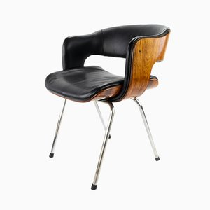 Leather & Rosewood Oxford Chair by Martin Grierson for Arflex, 1960s