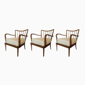 Armchairs by Paolo Buffa, 1940s, Set of 3