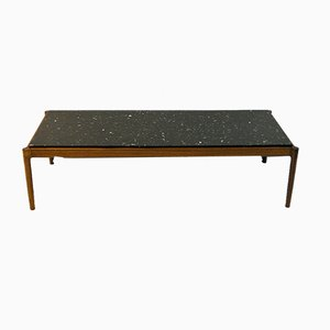 Black Stone Coffee Table by Ib Kofod-Larsen for Säffle Möbelfabrik, 1960s