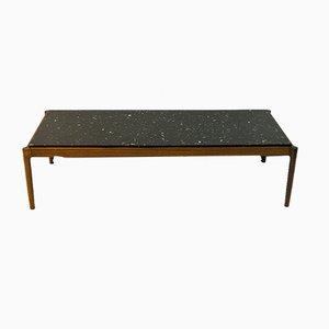 Couchtisch mit schwarzer Steinplatte von Ib Kofod-Larsen für Säffle Möbelfabrik, 1960er
