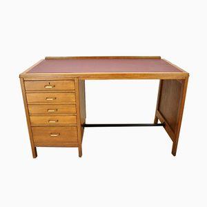 Vintage British Oak Desk, 1960s