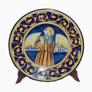 Large Decorative Plate, 1950s