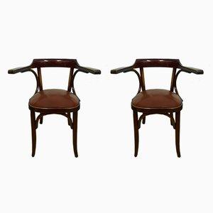 Deutsche Beistellstühle, 1930er, 2er Set