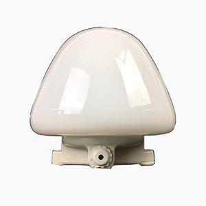 Lámpara de mesa LJS 965 vintage de vidrio de Wilhelm Wagenfeld para Lindner, 1955