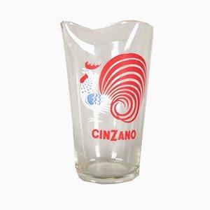 Wasserkrug aus Glas von Cinzano, 1950er