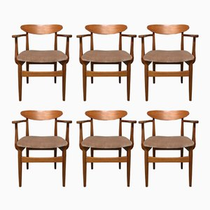 Mid-Century Teak Dining Chairs by Ib Kofod-Larsen for G-Plan, 1960s, Set of 6