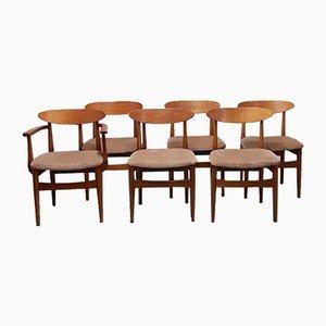 Chaises de Salle à Manger Mid-Century en Teck par Ib Kofod-Larsen pour G-Plan, 1960s, Set de 6
