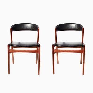 Danish Modern Dining Chairs by Kai Kristiansen for Jorg Stole, 1962, Set of 2