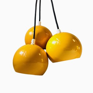 Space Age Yellow Bundle Pendant Light by E. S. Horn, 1960s