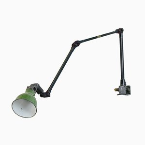 Wall Mounted Industrial Task Lamp from Mek Elek, 1930s