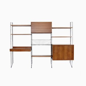 Vintage Wall Unit by Kajsa & Nisse Strinning for String, 1950s