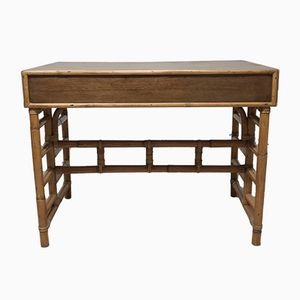 French Solid Teak Desk, 1960s