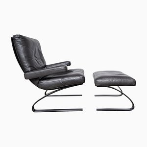 Swing Lounge Chair & Ottoman by Reinhold Adolf for COR, 1980s