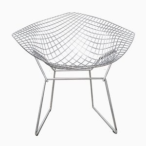 Sedia Diamond 421 Mid-Century di Harry Bertoia per Knoll International