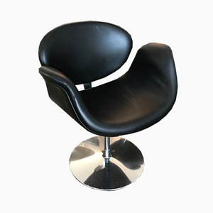 Silla Tulip pequeña en negro de Pierre Paulin para Artifort, años 90