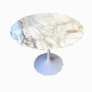 Gold Calacatta Marble Table by Eero Saarinen for Knoll International, 1978