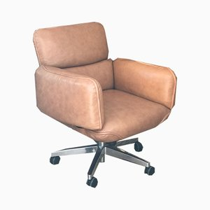 Cognac Leather Desk Chair by Otto Zapf for Topstar, 1980s