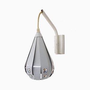 Lámpara de pared blanca de Werner Schou, años 60