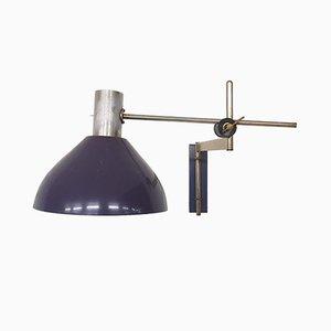 Vintage Wandlampe in Lila von Dijkstra, 1960er