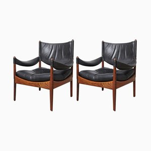 Modus Lounge Chairs by Kristian Vedel for Søren Willadsen Møbelfabrik, 1970s, Set of 2