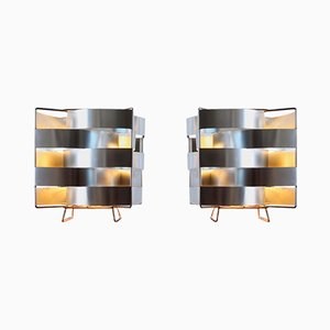 Lampes de Bureau Uranus en Aluminium par Max Sauze, 1970s, Set de 2