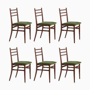 Sedie da pranzo Trieste di Guglielmo Ulrich per Saffa, anni '60, set di 6