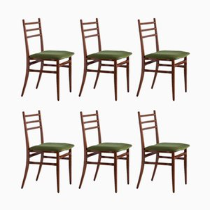 Trieste Dining Chairs by Guglielmo Ulrich for Saffa, 1960s, Set of 6
