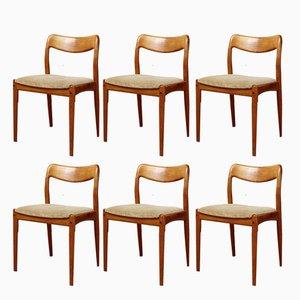 Chaises de Salon par Johannes Andersen pour Uldum Møbelfabrik, 1970s, Set de 6