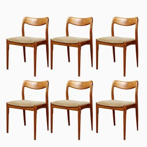 Dining Chairs by Johannes Andersen for Uldum Møbelfabrik, 1970s, Set of 6
