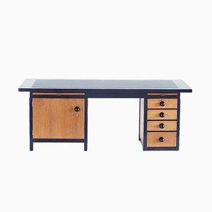 Schreibtisch aus Eichenholz & Makassar Ebenholz von Frits Spanjaard, 1930er