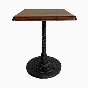 Mesa de bistró de madera y hierro fundido, años 20