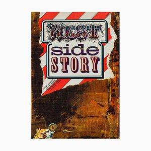 Póster vintage de la película West Side Story de Zdeněk Ziegler, años 70