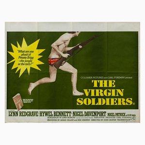 Póster vintage de la película Soldados vírgenes de John Stockle, años 60