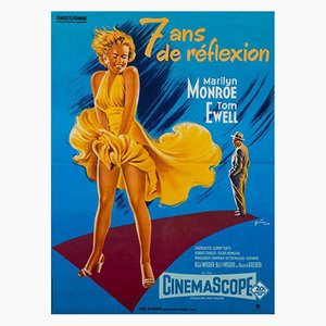 Póster vintage de la película La tentación vive arriba, años 70