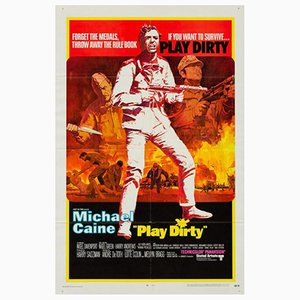 Vintage Play Dirty Filmplakat, 1960er