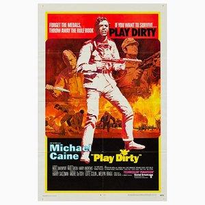 Vintage Play Dirty Filmplakat, 1960er
