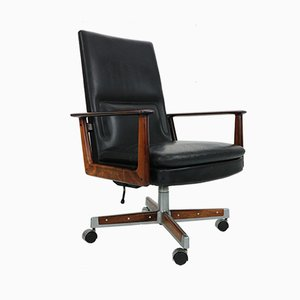 Rosewood & Leather Executive Office Chair by Arne Vodder for Sibast, 1960s