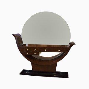 Mesa consola española Art Déco con espejo, años 30