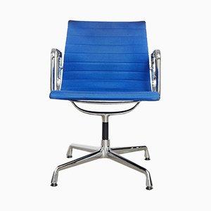 Sedia girevole EA108 in alluminio di Charles & Ray Eames per Vitra, anni '80